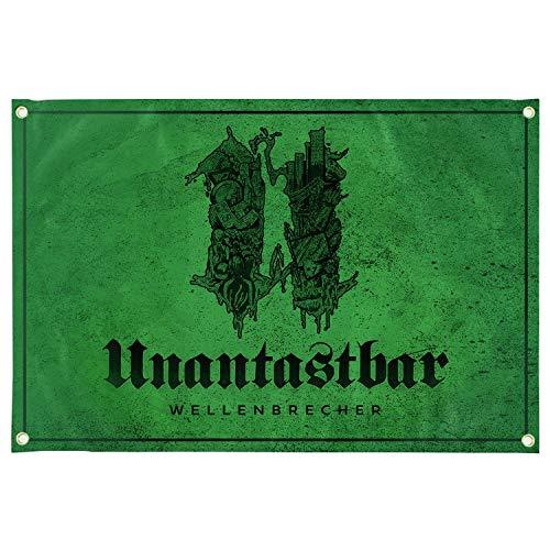 Unantastbar - Wellenbrecher, Fahne Abmaße: ca. 150 x 100 cm
