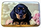 Fig Design Group Dachshund Puppy Flowers RFID Secure Theft Protection Credit Card Armored Wallet