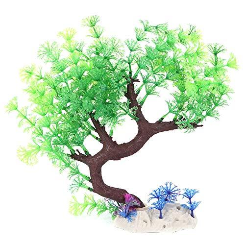 Árvore curva de cor brilhante Simulação de árvore curva, planta de ornamento de aquário, iluminação artificial(Green Vanilla Curved Tree)