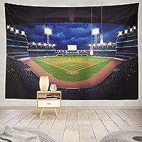 JOOCAR スポーツ野球タペストリーウォールマウント居間の寝室の寮の装飾的な芸術のタペストリー 150cm x 230cm