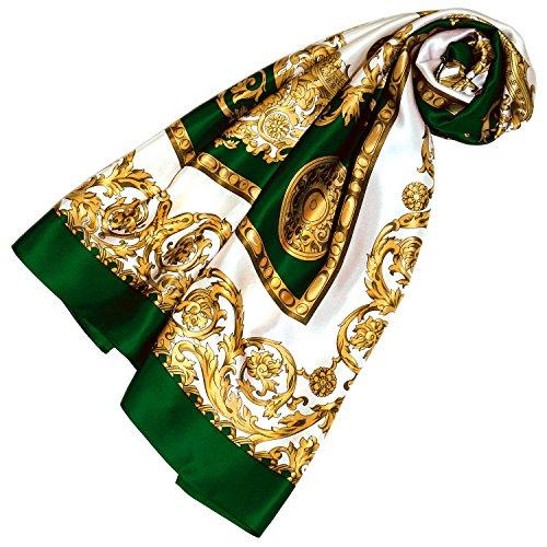 LORENZO CANA Foulard pour la femme – écharpe à la mode de 100% soie pour le printemps et l´été avec les mesures de 100 x 100 cm – soyeux, élégant et très coloré – une sensation de luxe