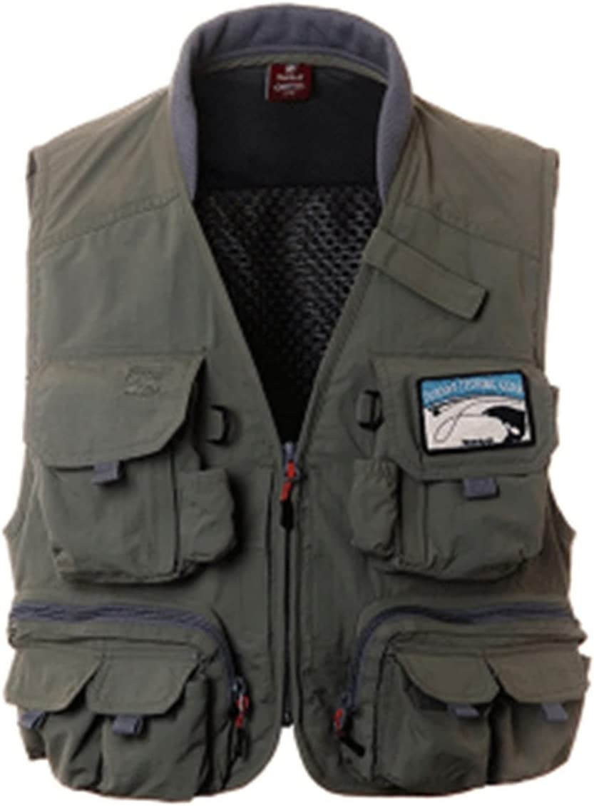 XIURAB Mens A surprise price is realized Elegant Multi-Pocket Fishing Vest Casual Photography