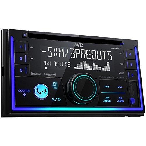 JVC KW-R930BT Receptor Multimedia para Coche 2 DIN | Radio para Coche con Receptor CD, entradas AUX Jack 3.5. y USB y Conexión Inalámbrica Bluetooth.