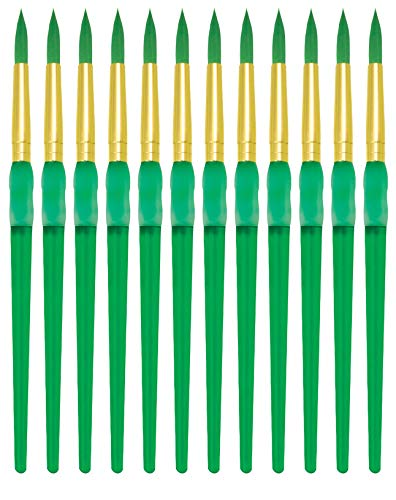 Royal Brush Big Kids Choice Paint Brush, Round, Size 8, Pack of 12 - 1300673
