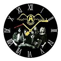 飛べ!エアロスミス Aerosmith Get Your Wings 壁掛け時計 木製掛け時計電池式 掛け時計 おしゃれ 円形 静音 ウオールクロック インテリア 部屋装飾