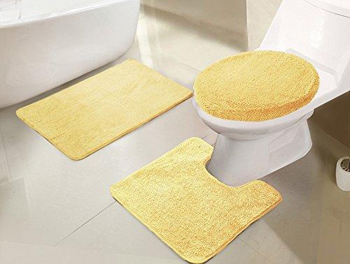 RT Designers Collection Imperial 3-Piece Bath Rug Set, Lemon