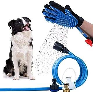Dog Bathing Tool Pet Shower Sprayer & Pet Bath Brush 2-in-1 Upgraded Pet Shower Grooming Glove for Bathing Massage, Compat...