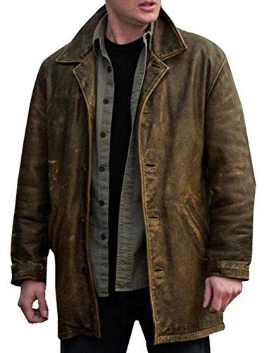 Dean Winchester Lederjacke, Used-Look, Supernatural Gr. Medium, Braun, Used-Optik