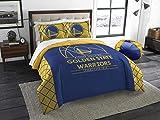 The Northwest Company NBA Golden State Warriors Full Comforter and Sham Set, Full/Queen , Blue