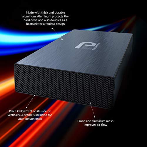 Fantom Drives 8TB External Hard Drive - Super Fast 7200RPM USB 3.0 - Black Aluminum External Hard Drive for Mac, PC, Xbox One and PS4 - by Fantom Drives (GF3B8000UP)