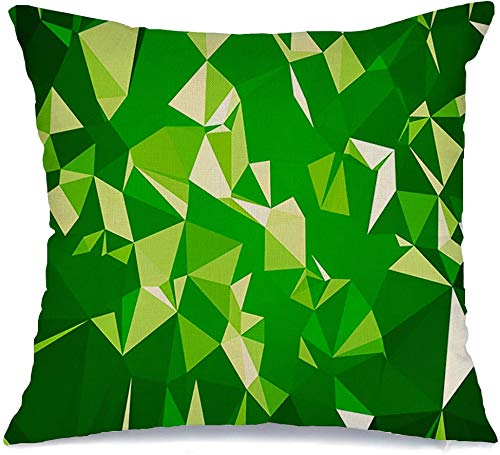 Decoration Linen Decorative Square Throw Pillow Cover Cushion Cover Origami Crumpled Abstract Low Poly Geometry Triangle Geometric Graphic Mosaic Style Multicolor Home Decor for Party 16x16 Inch