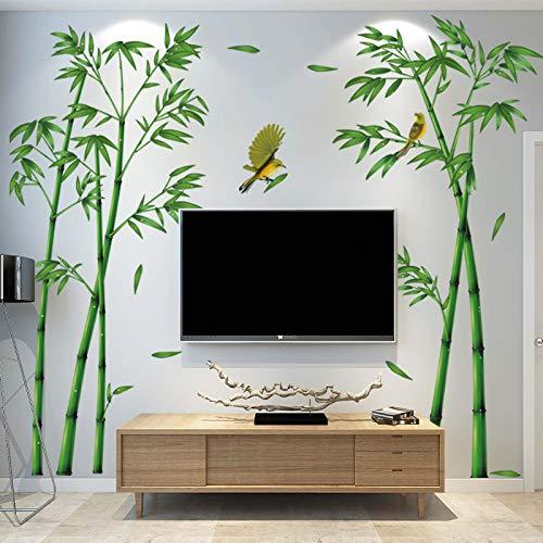 DSSJ Pegatinas de Pared Pegatinas de Pared Fondo de TV Pared autoadhesiva de bambú Decoración Sala de Estar Sofá Papel Tapiz 3D Estéreo Pegatinas de Pared