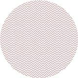 Deco&Fun - Alfombra Vinílica Redonda Zigzag Rosa 80x80cm - Alfombra PVC Alfombra vinílica Cocina- Alfombra vinílica salón - Alfombras de Vinilo- Alfombra Redonda