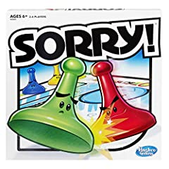 Classic Sorry! game is mystery-solving guessing fun Bump other players' pawns and hide in your Safety Zone, where pawns of other colors can't enter Power-up tokens give you special powers Includes gameboard, 12 Sorry! Pawns, 45 cards, 2 power-up toke...