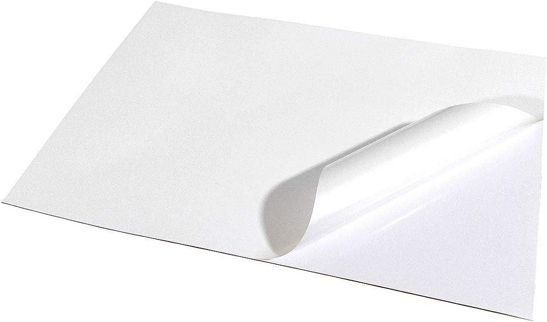 Vinilos adhesivos imprimibles en formato A4 resistentes al agua y adecuados para impresoras láser (5 láminas)