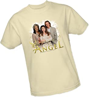 Angels - Touched by an Angel Crop Sleeve Fitted Juniors T-Shirt