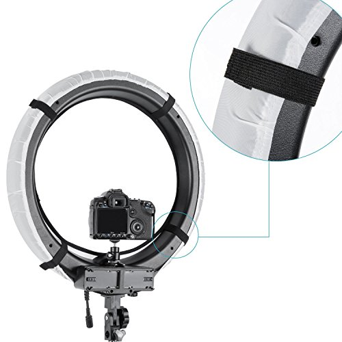 Neewer 4-Color Foldable Portable Video Ring Light Softbox Diffuser Cloth Kit for Neewer 18 inches 75W Ring Light and 55W LED Ring Light, High Light Transmission Material (Red, Yellow, White, Blue)
