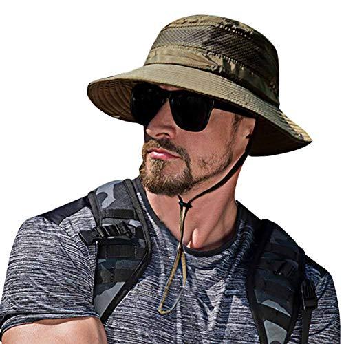 SIYWINA Hombres Sombrero de Pescador Verano Protección UV...