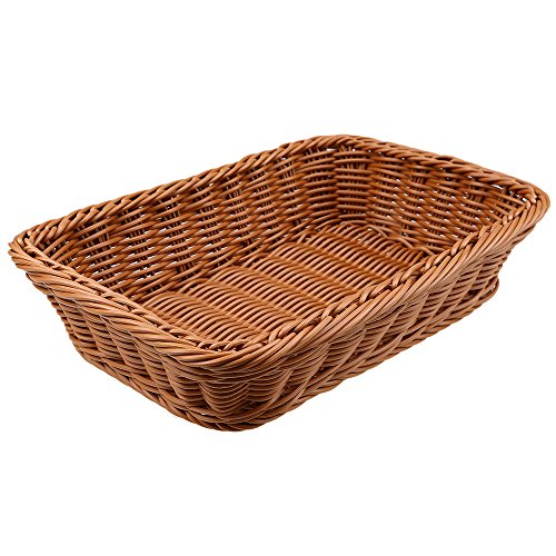 "Bread Baskets, WCIC Rattan Rectangle Food Fruit Baskets Handmade Baskets Kitchen Vegetables Bins Bathroom Storage Container 12.5""X8.66""X4.33"""