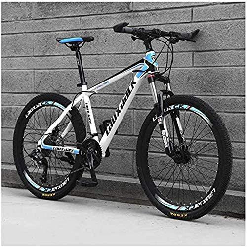 Bicicletta durevole di alta qualità, Sport all'aria aperta Mountain Bike 30 Velocità 26 pollici con acciaio al carbonio Telaio Doppia Olio for freni Sospensione forcella ammortizzata antisdrucciolo bi