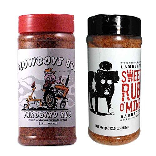 Championship BBQ Rub Bundle (Plowboys Yardbird 14 Ounce and Lamberts Sweet Rub o' Mine 12.5 ounce)