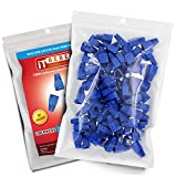 ITBEBE Blue RJ45 Strain Relief Boot Covers 100-Count Set for Cat5 Cat5e, and Cat6 Ethernet Connectors