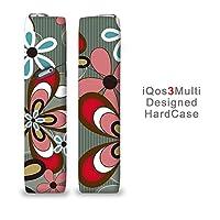iQOS3マルチ用ハードケース【ANA-Lyn】イラスト グレーに赤い花 完全国内受注生産品アイコス3マルチ iQOS3マルチ オリジナル アイコス3マルチカバー ケース
