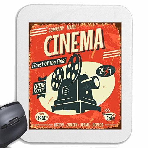 Mousepad (Mauspad) CINEMA FINEST OF THE FINE ACTION COMEDY DRAMA HORROR KINO KINOFILM KINOLEINWAND MOVIE LIFESTYLE FASHION STREET WEAR HIPHOP LEGENDARY SALSA für ihren Laptop, Notebook oder