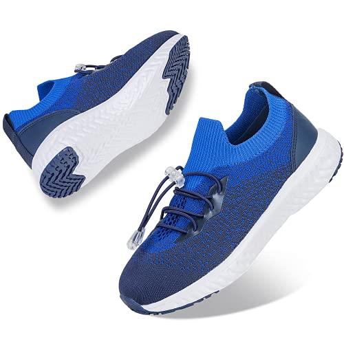 ALCHARM Zapatillas de deporte para niños, zapatillas de deporte, zapatillas de interior, ligeras, transpirables, zapatillas de correr, para niños y niñas, K007 Blue, 35 EU