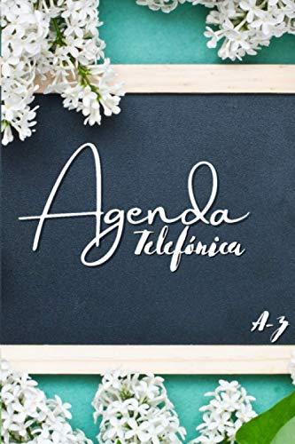 Agenda Telefónica Abecedario: Índice alfabético A-Z | Tamaño A5, agenda práctica | 728 entradas