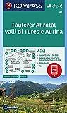 KOMPASS Wanderkarte Tauferer Ahrntal, Valle di Tures e Aurina: 4in1 Wanderkarte 1:50000 mit Aktiv...