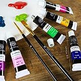 OfficeTree Acrylfarben Set 26 Tuben à 12 ml – Auf Wasserbasis – Acrylic Paint für Acrylmalerei – Für Papier, Leinwand, Holz, Stein UVM - 3