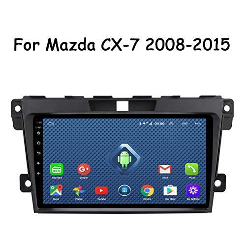 HP CAMP 9 Pulgadas Dash Car Stereo Android 9.0 MP3 Player para Mazda CX-7 2008-2015, GPS Radio estéreo 2.5D Pantalla táctil, WiFi, BT, inversión, Cámara de Marcha atrás