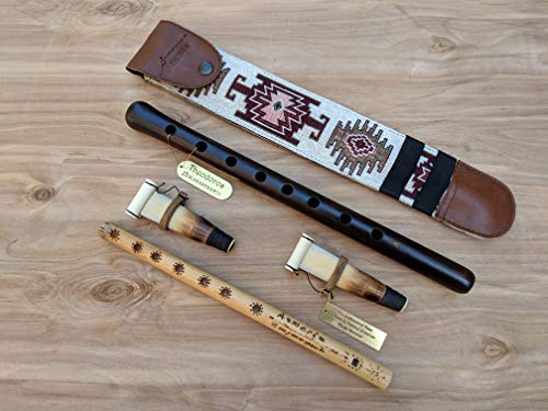 ARMENIAN DUDUK PRO from Apricot Wood, 2 Professional Reeds, National Leather Case, Playing Instruction and Free Gift Flute, ARMENIAN Handmade Woodwind Instrument, Oboe, Balaban