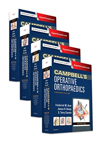 Compare Textbook Prices for Campbell's Operative Orthopaedics, 4-Volume Set 13 Edition ISBN 9780323374620 by Azar MD, Frederick M,Canale MD, S. Terry,Beaty MD, James H.
