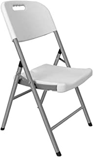 LKH Sillas Plegables de Interior, Sillas de Cocina, Comedor, sillas Plegables Silla al Aire Libre, sillas Party, Sillas de Patio portátil, Plegable, Ahorro de Espacio (Color : Blanco)