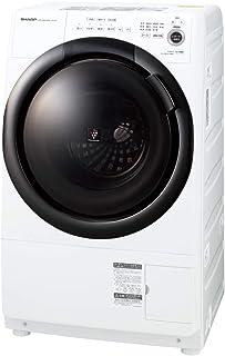 シャープ ドラム式 洗濯乾燥機 ヒーターセンサー乾燥 左開き(ヒンジ左) 洗濯7kg/乾燥3.5kg ホワイト系 幅640mm 奥行600mm DDインバーター搭載 2021年春モデル ES-S7F-WL