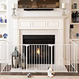 Qdos Construct-A-SafeGate - Wide Baby Gate - Meets Tougher European Standards - Create Customized Safe Spaces around Fireplaces, Large Openings, Stairways - Includes a door and 2 sections | White