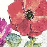 Summer Poppy IHR - Tovaglioli tradizionali di carta, 20 in confezione da 3 strati