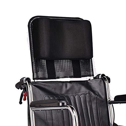 Poggiatesta per sedia a rotelle, supporto per la testa e per il collo regolabile e portatile per adulti, da viaggio, 40,6-50,8cm, accessorio cuscino universale per sedia a rotelle, colore nero