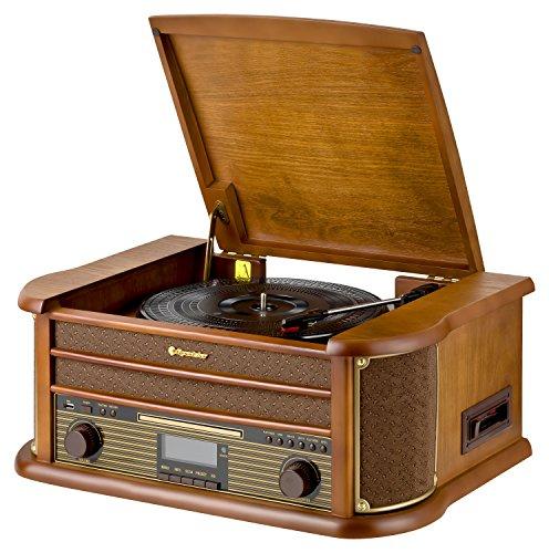 Roadstar HIF-1990D+BT - Sistema audio vintage con Bluetooth y DAB, madera