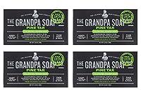 【4個セット】グランパ パインタールソープ Grandpa's PINE TAR Soap 120g×4