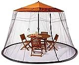 THj Gartentischschirm Sonnenschirm Moskitonetz Schutznetz für Indoor und Outdoor, Camping - Ohne Regenschirm und Fundament