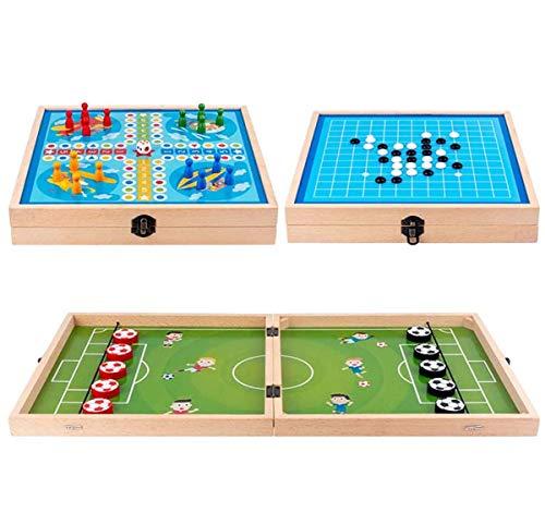YHX Fast Sling Puck Game, 3 En 1, Divertido, Plegable, Futbolín De...
