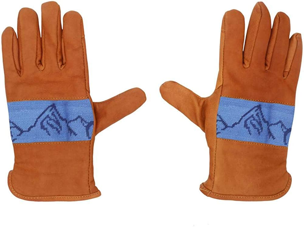 Mountain Peaks Needlepoint Gloves by Smathers & Branson