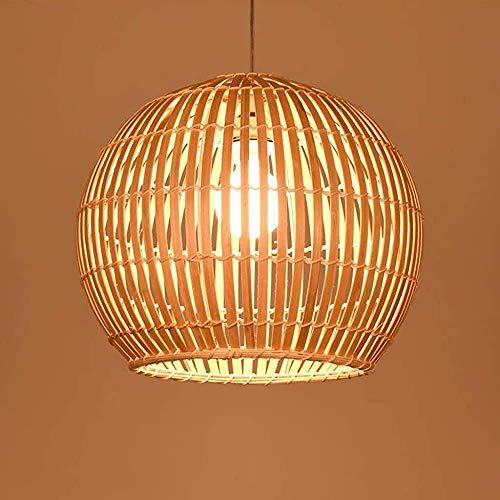 Bambú vid retro araña linterna diseño araña lámpara tejida a mano E27 Metal Altura industrial se puede sujetar, 40 cm,50cm