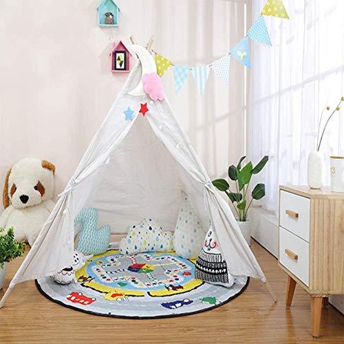 DXQDXQ Tent Children Tent Home Decor Cotton Cloth Indian Tent 4-6 Portable (Color : White - XL)