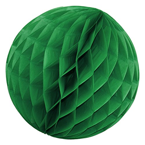 Simplydeko Wabenball 3er Set | Deko Wabenbälle aus Seidenpapier | Papierlampion | Papierkugeln | Honeycomb Lampions aus Wabenpapier | Waldmeister Grün | 10 cm | 3 Stück