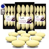 Hyoola Premium Ivory Floating Candles 3 Inch - 8 Hour - 36 Pack - European Made