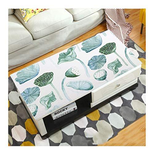 &Nappes Nappe rectangulaire en PVC - Table basse transparente Nappe étanche de salon nappe de table (Couleur : D, taille : 70 * 120cm)